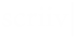 white scriiv logo