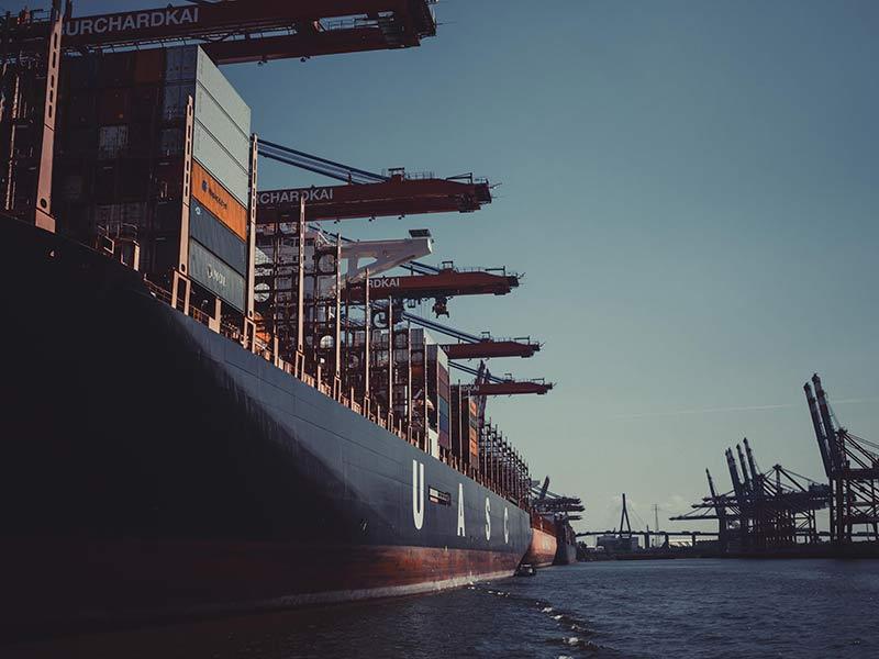 freight ship at harbor